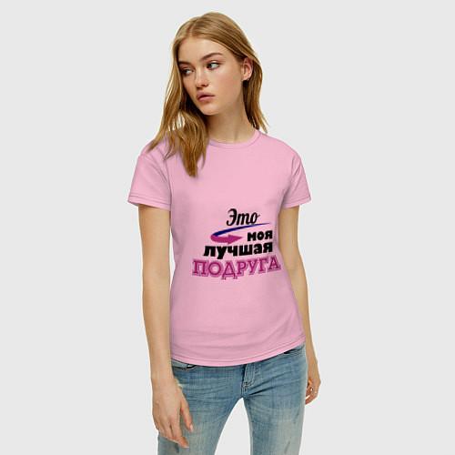 Женская футболка Моя лучшая подруга / Светло-розовый – фото 3