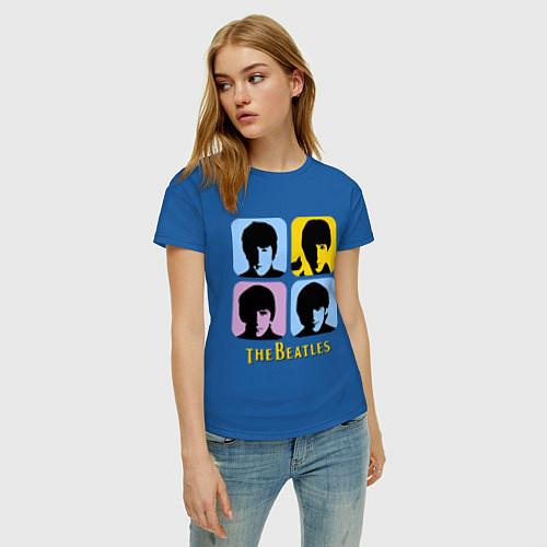 Женская футболка The Beatles: pop-art / Синий – фото 3