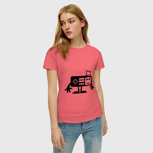 Женская футболка Игроман / Коралловый – фото 3