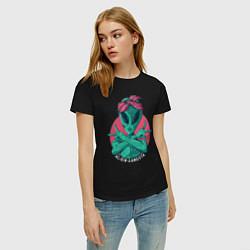 Футболка хлопковая женская Alien Gangster цвета черный — фото 2