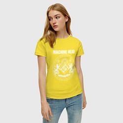 Футболка хлопковая женская Machine Head MCMXCII цвета желтый — фото 2