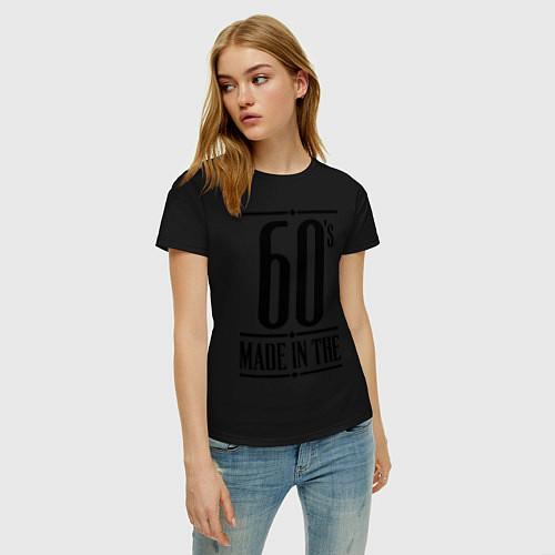 Женская футболка Made in the 60s / Черный – фото 3