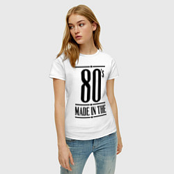 Футболка хлопковая женская Made in the 80s цвета белый — фото 2