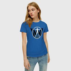 Футболка хлопковая женская Westworld цвета синий — фото 2