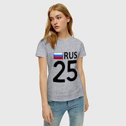 Футболка хлопковая женская RUS 25 цвета меланж — фото 2