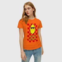 Футболка хлопковая женская John Lemon цвета оранжевый — фото 2